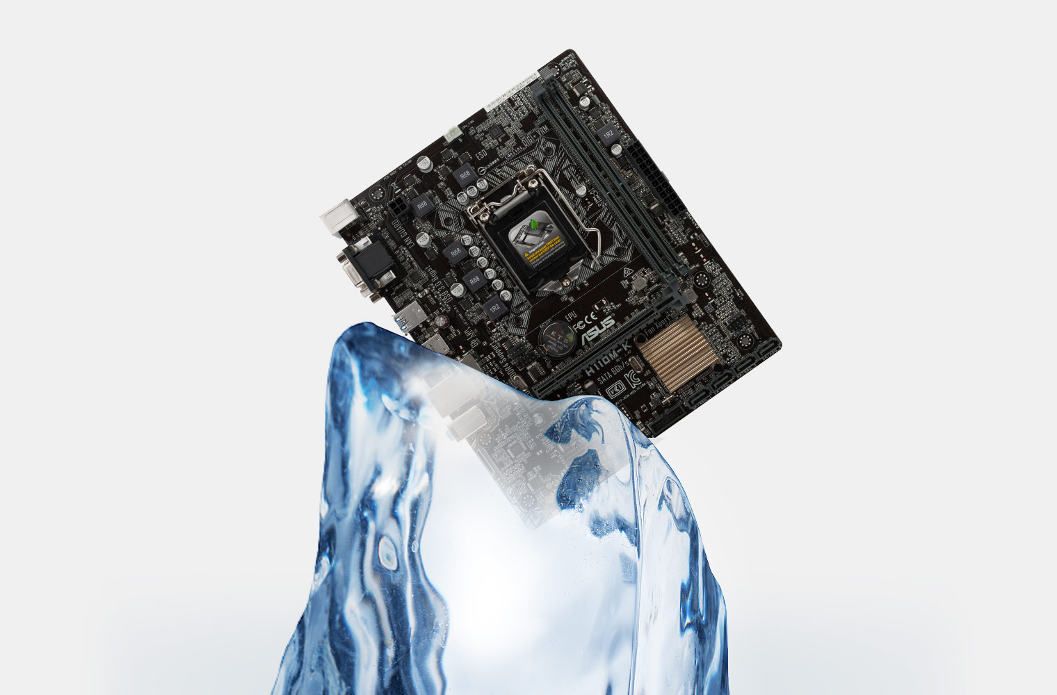 ASUS Motherboard on Ice